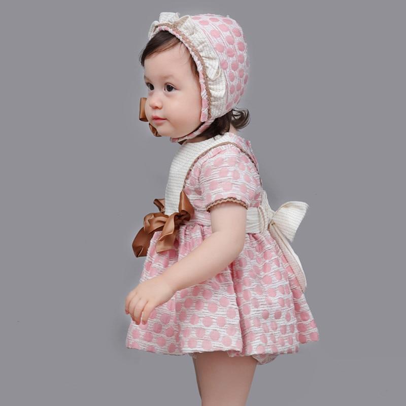 Ensemble de robe de princesse bébé fille espagnole pour enfants vêtements d'été 1st robe de baptême anniversaire Bambina 1 an robes de baptême