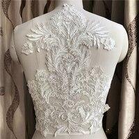 1 шт. White3D Цветы DIY нашивка аппликации вышитое блестящим бисером вышивать на пачках цветочный костюм с патчем для свадебное платье Декор LNY9355