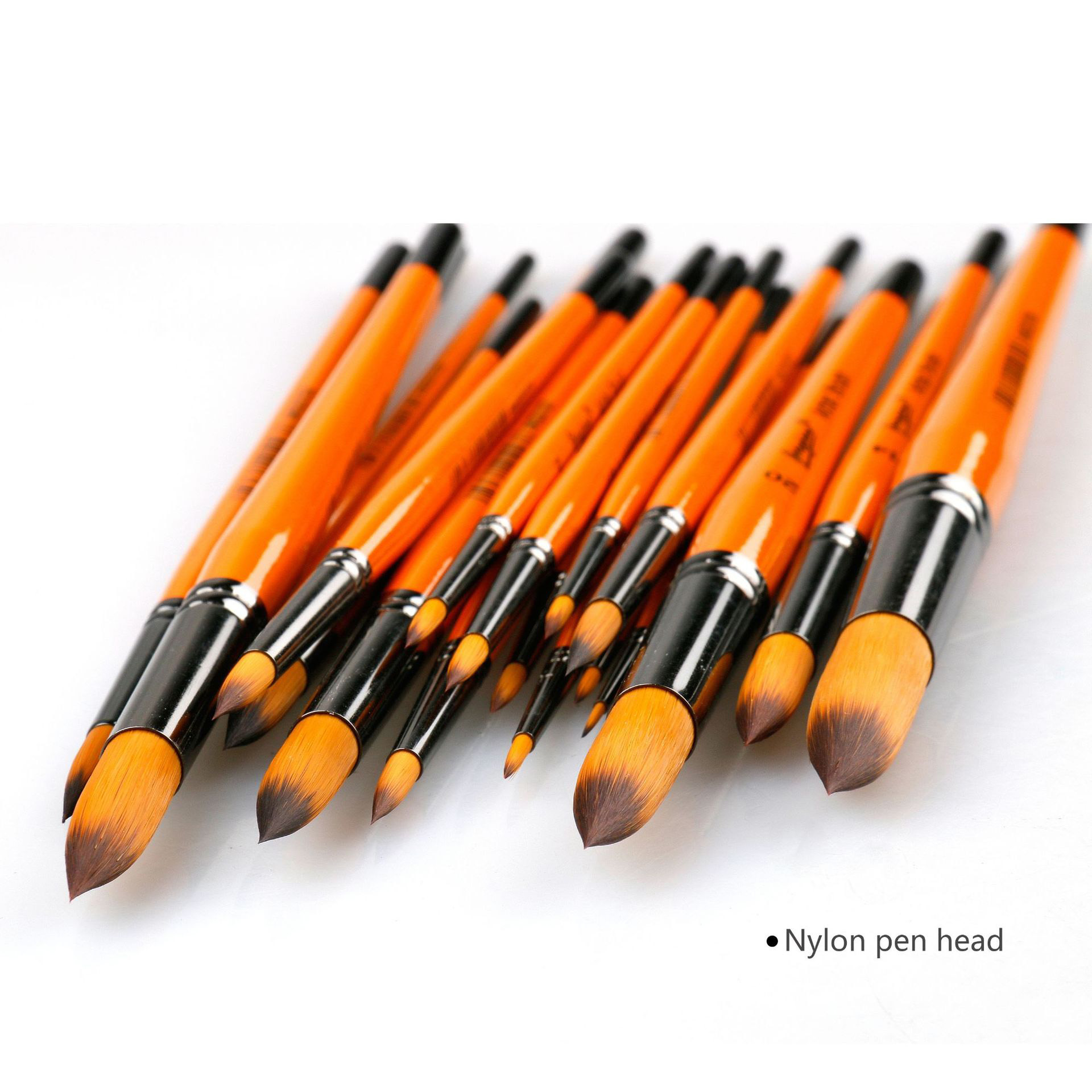 Single piece independent Packing Art Watercolor Powder Round head two-tone Nylon Brush Sketch Multi-purpose Professional Paint image