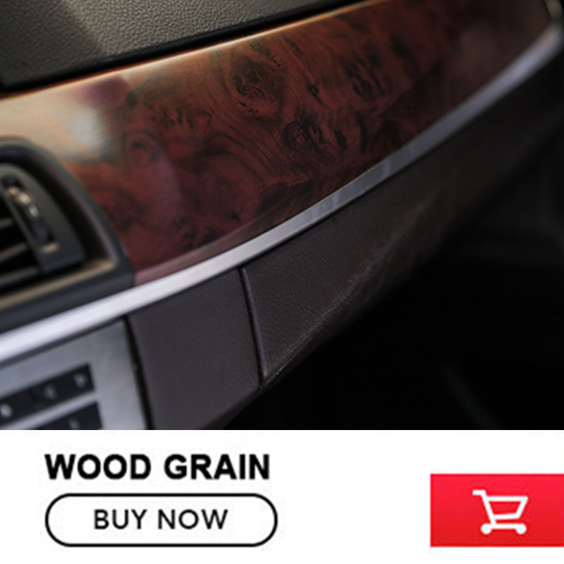 High-end Self-adhesive Vinyl Film Wood Grain Textured Car Wrap  Wood Grain vinyl wraps Film For Car Interior decorate