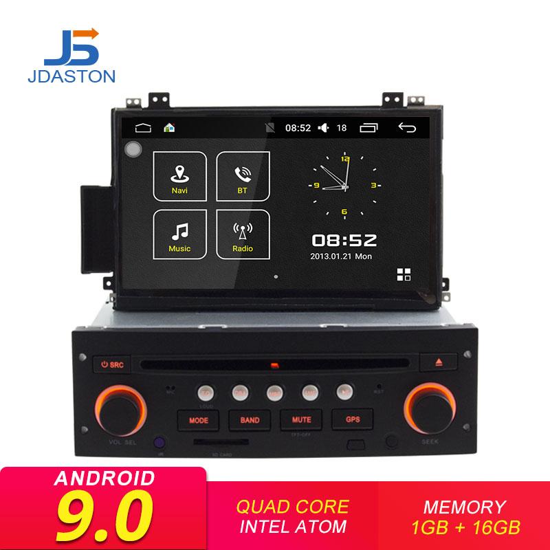 JDASTON Android 9.0 Car DVD Player For Citroen C5 2005-2012 GPS Navigation Audio Wifi Multimedia Stereo 1 Din Car Radio Stereo