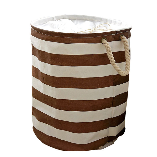 mediterranean home decor laundry storage basket folding waterproof canvas kids room decor toy storage baskets