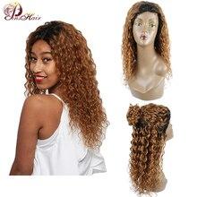 1B 30 блонд человеческих волос волна воды парик для черных женщин бразильский кружевной передний парик их натуральных волос 4*4 закрытие 150 Плотность парик из натуральных волос