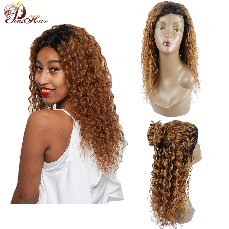1B 30 Blonde Human Hair Water Wave Wig For Black Women Brazilian Lace Front Wig Human Hair 4*4 Closure 150 Density Remy Hair Wig
