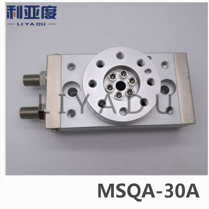 SMC type MSQA-30A rack and pinion type cylinder / rotary cylinder /oscillating cylinder, with angle adjustment screw MSQA 30A cdra1bsu50 180c smc orginal rack and pinion type oscillating cylinder rotary cylinder