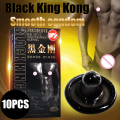 Davidsource Black King Kong 10 Pieces/Lot Smooth Black Condom For Horny Men Adult Contraception Products Free Shipping