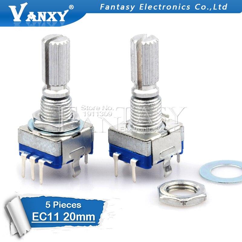 5 個梅ハンドル 20 ミリメートルロータリーエンコーダコーディングスイッチ/EC11/デジタル · ポテンショメータ 5 ピン