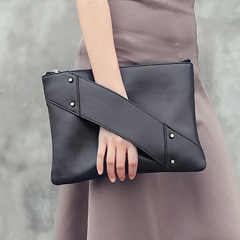 Fashion rivet Women Day Clutches Lady Handbag designer clutch purse PU leather famous women bag lady envelope clutch wallet purse 3 set casual clutch day clutches letter bag luxury handbag women bag designer bolsas beach bag for women lady hand bag sac