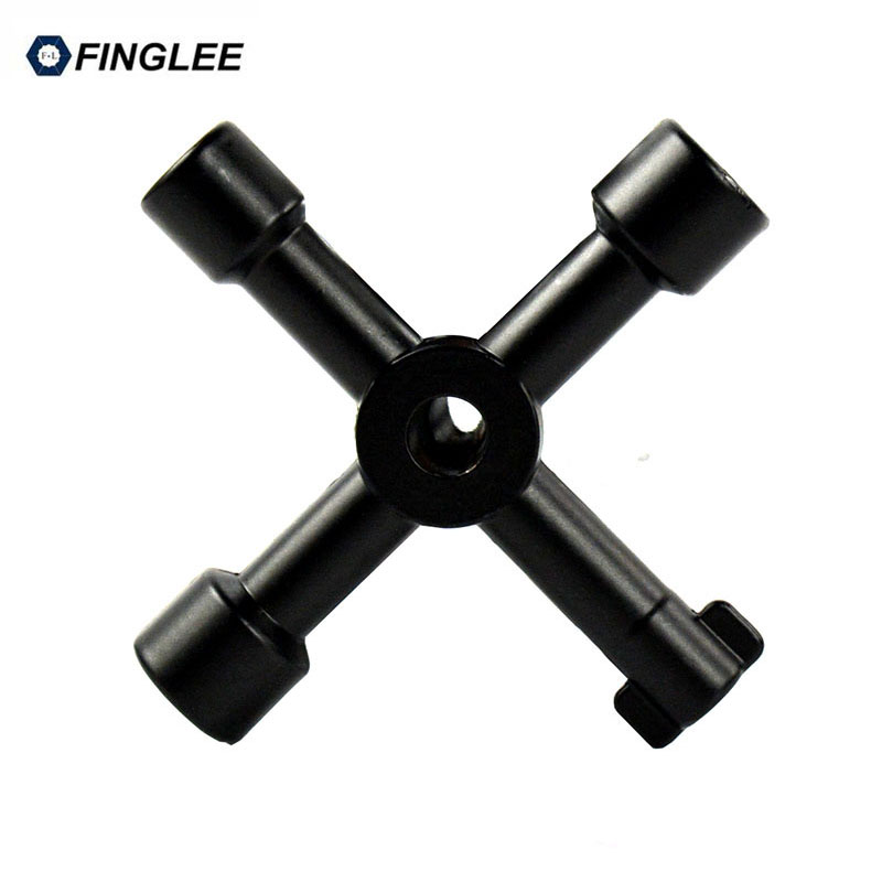 FINGLEE Multifunctional cross spanner key elevator square hole key board glove tube tool Universal Cross Triangle KEY for Train