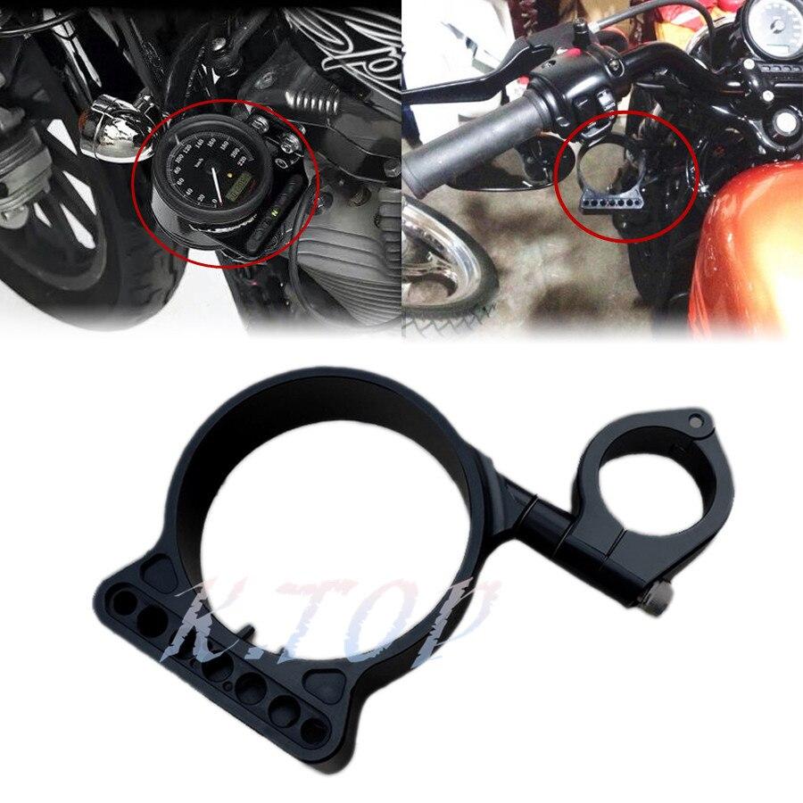 39mm Side Mount Speedo Relocation Bracket for Harley Sportster Black