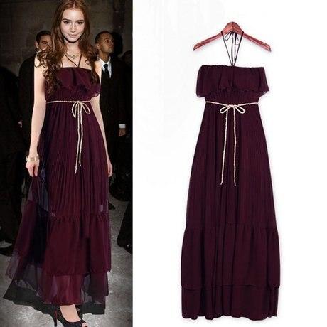 30453969a1bc1 Fashion sexy party halter-neck ruffle tube top slim waist pleated chiffon  one-piece dress Bohemia full dress PL12070307