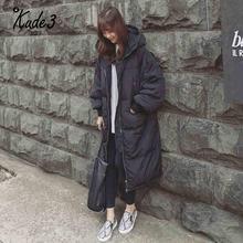 Women Warm coat jacket Long Fashion Female Outwear Thick Warm Parka Oversize Fur Duck Down Winter Coat Women Retro With Hood