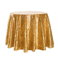 2019 Gold Sparkle Round Sequin Tablecloth Table Cover For Wedding Party Event Banquet Home Table Cover Decoration Cover L621
