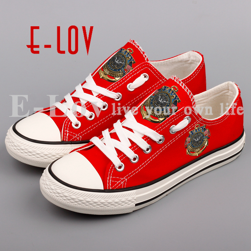 E-LOV 2018 New Printed Canvas Shoes DIY Design Couples and Lovers Leisure Shoes Plus Size Sapatos Festival Gift e lov unique design taurus horoscope luminous canvas shoes women diy graffiti couples lovers casual flats zapatillas mujer
