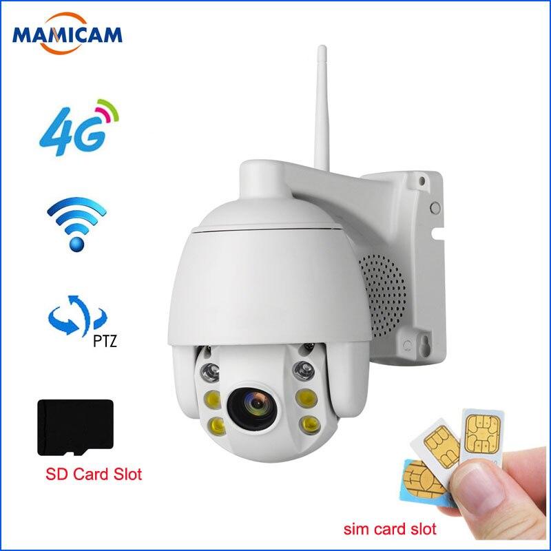 2MP 3G 4G caméra IP sans fil PTZ Wifi 1080 P extérieure étanche Mini caméra P2P bidirectionnelle Audio CCTV caméra de sécurité