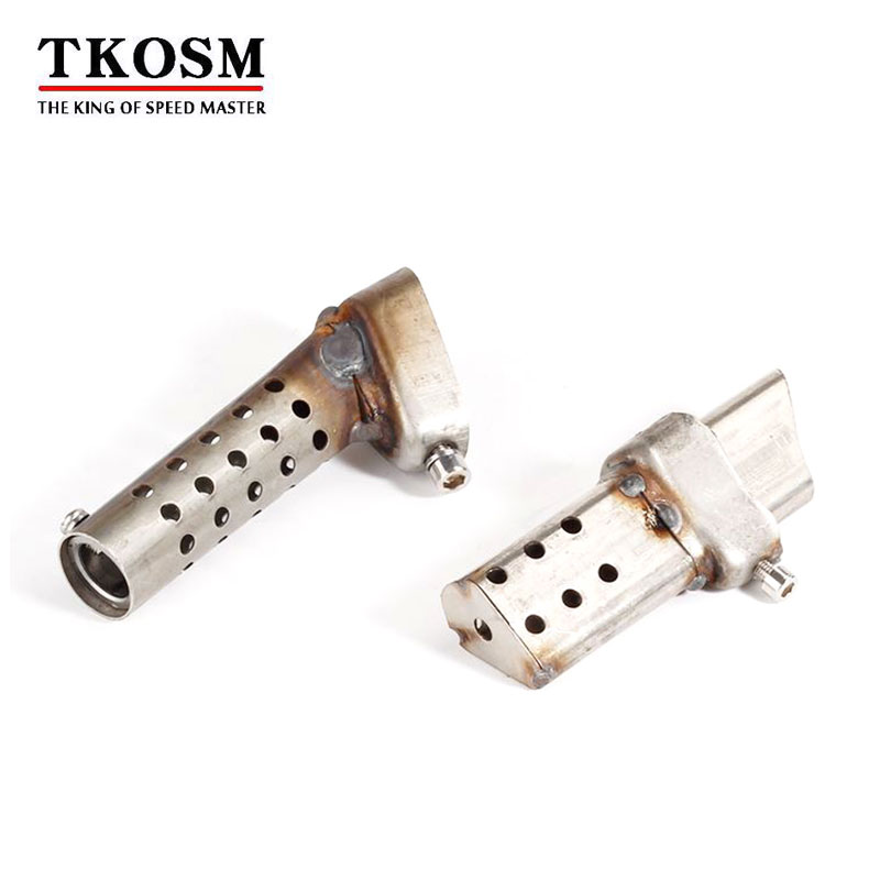 TKOSM Exhaust Moto Bumper Insert Deflector Can DB Killer Silencer Noise Eliminator Adjustable Length 127mm For Muffler Pipe