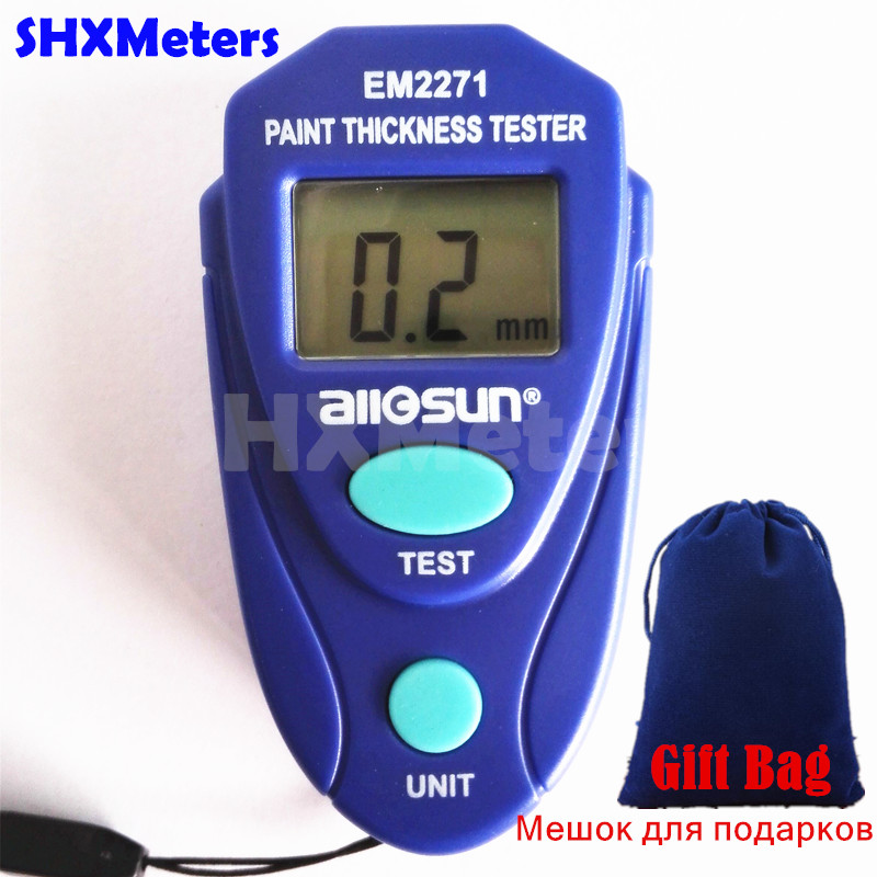Digital Mini Car Paint Thickness Tester Paint Thickness Meter Auto Coating Thickness Gauge Instrument with Russian Instruction  цены