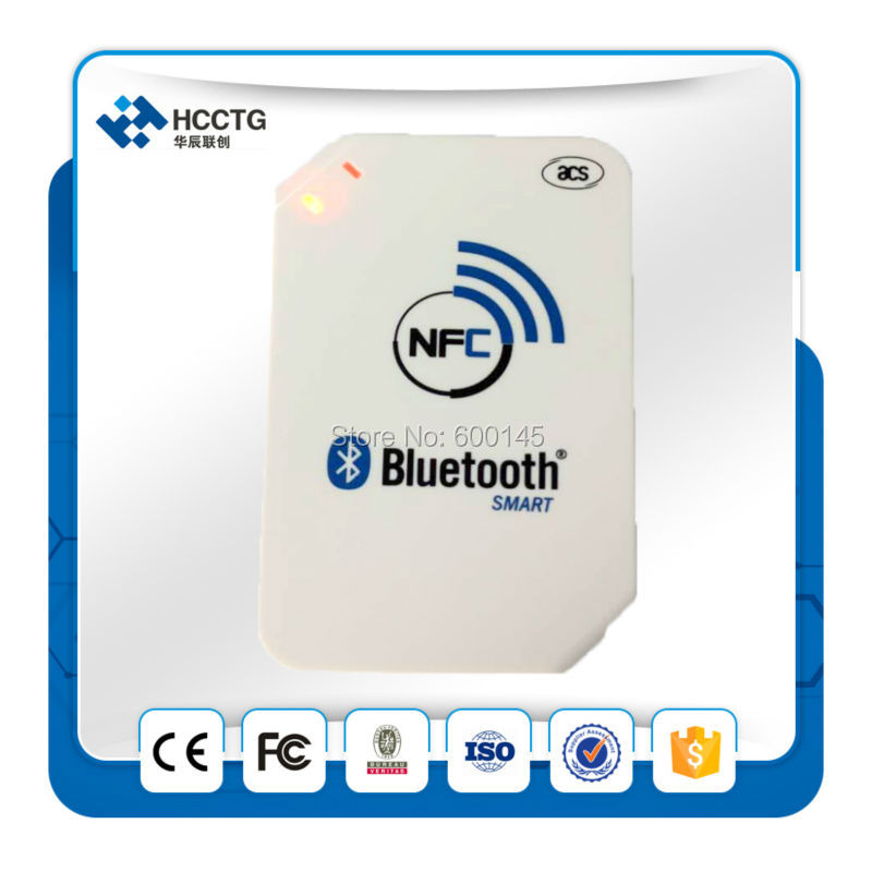 2016 Newest 13.56mhz NFC Bluetooth Wireless Contactless RFID Reader Writer ACR1255-J1 Support ISO14443 S50 Chip MF One, NFC Card