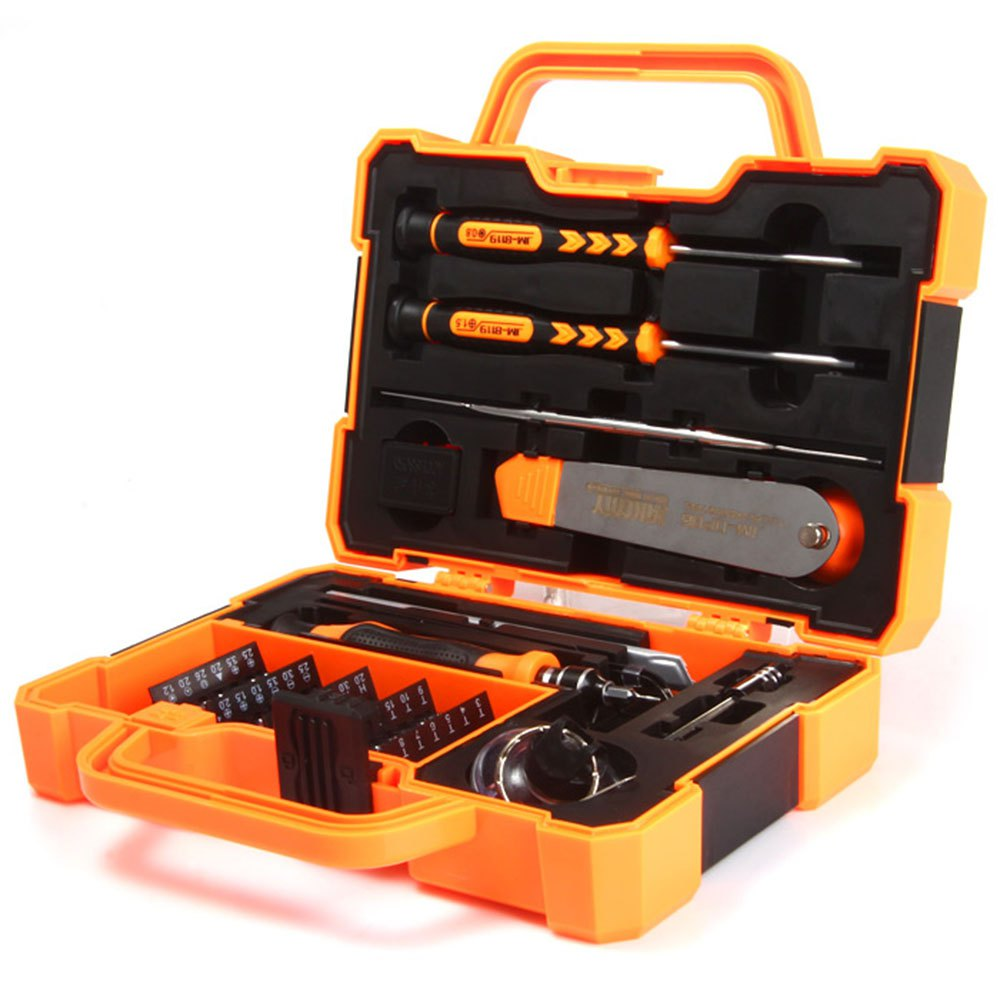 Newest JAKEMY JM-8139 45 in 1 Multi Bit Screwdriver Kit with Spudger Tweezers for Tablets Mobile Phone PC Repair стоимость
