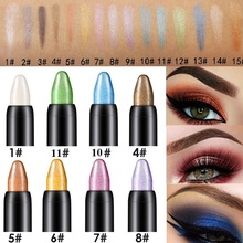 Hot 1PC Beauty Highlighter Eyeshadow Pencil Makeup Cosmetic Glitter Eye Shadow Eyeliner Pen Delineador ojos 2017 a beauty pro highlighter eyeshadow pencil cosmetic glitter eye shadow pen makeup