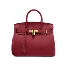 Women Genuine Leather Platinum Lock Bag Famous Brand Designer Tote Handbags Real Leather Shoulder Bags louis bag