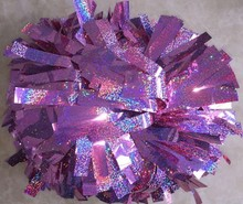 cheerleading Pom poms 3/4″x 6″~custom color metallic holographic pink