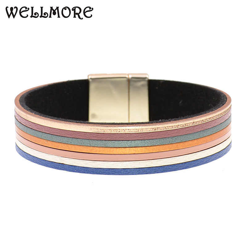 WELLMORE bohemia bracelets for women leather bracelets fashion jewelry wholesale drop shipping