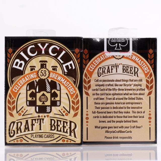 1 deck Craft Beer Deck Bicycle Playing Cards Magic Tricks Poker Size USPCC Custom Limited Edition Magic Props 81264