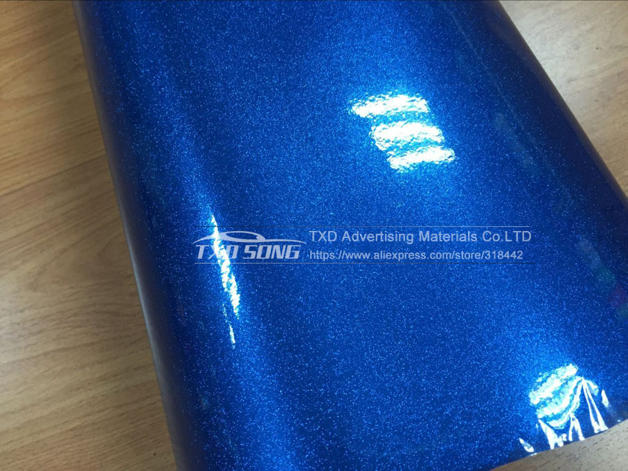 Image 4 - 12/30/50/60X100CM/LOT FOR CHOICE Premium Blue High glossy diamond vinyl wrap film with air free bubbles by free shipping-in Car Stickers from Automobiles & Motorcycles
