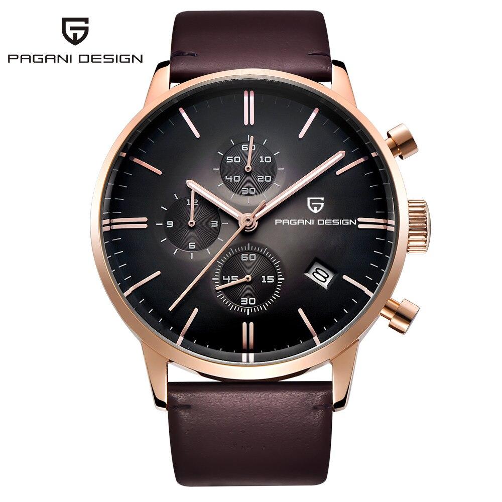 men 39 s luxury waterproof genuine leather watch. Black Bedroom Furniture Sets. Home Design Ideas