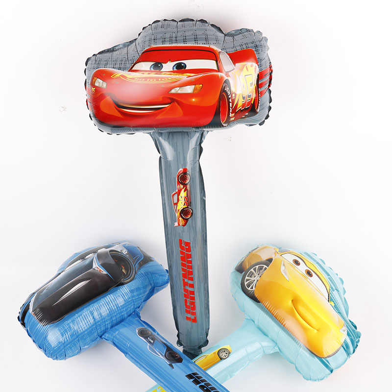 5 шт. гоночный автомобиль ручной светильник фольги Воздушные шары 3D милый автомобиль желтый красный черный товары для вечеринки, дня рожденья вечерние украшения детские игрушки