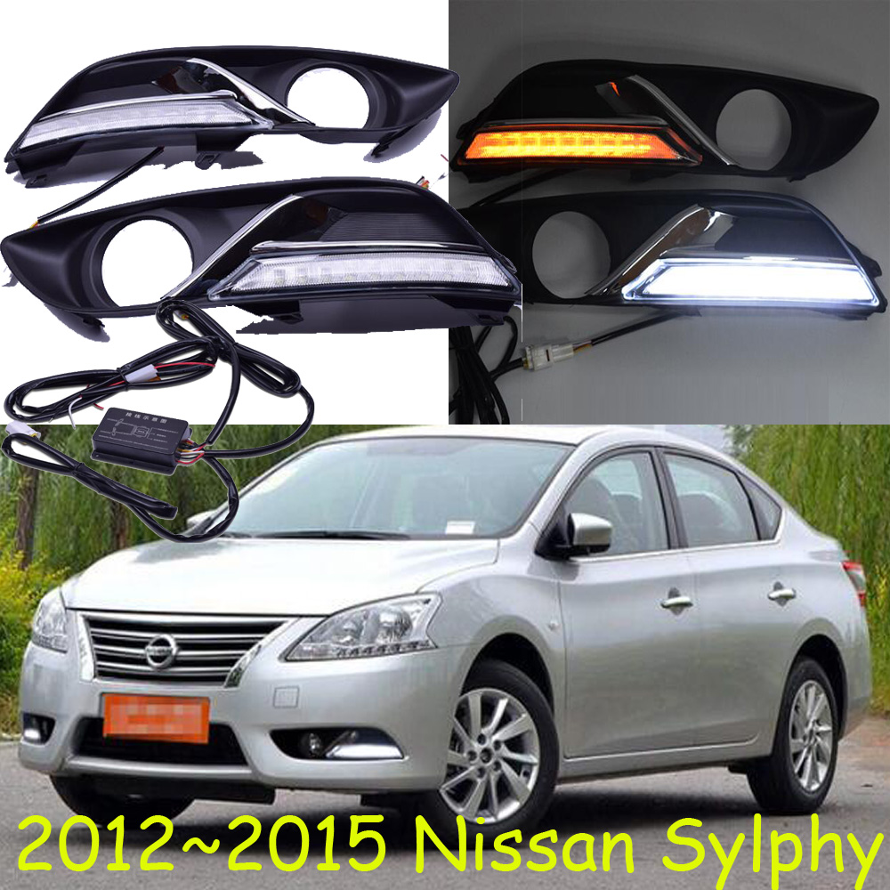 2012~2015 Sylphy daytime light,Free ship!LED,Sylphy fog light,2ps/set;Sylphy;bluebird daytime light;bluebird car styling sylphy taillight 2012 2015 free ship 2pcs sylphy fog light sylphy tail lamp chrome car detector bluebird