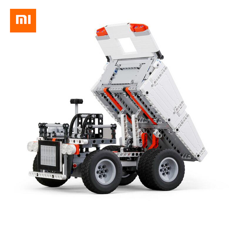 Original Xiaomi Mitu Block Robot Mine Truck Toys For 6 Years Old Children Steering Wheel Control Dump Lift Smart Remote Control killer mine