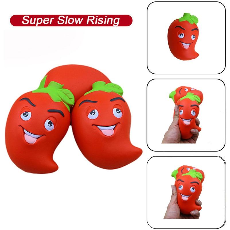 Speciale Aanbieding Squishies Leuke Chili Pop Langzaam Stijgende Fruit Geurige Stress Relief Speelgoed Knijp Grappige Presenteert Interessante Speelgoed M5 Kortingen Sale