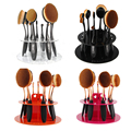 New Makeup Brush Holder 10 Hole Toothbrush Oval Brush Display Convenient Stand Storage Brush Showing Shelf Tool Drying Rack