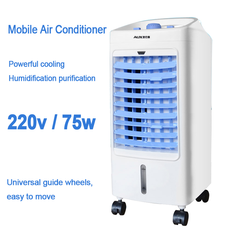 Mobile Air Conditioner Mini Air Conditioning Fan Single Cold Home Air Conditioning 3-gear Wind Speed 4L Water Tank 220V