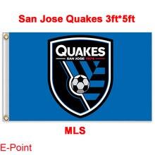 1 piece 144cm*96cm size MLS San Jose Quakes Flying flag