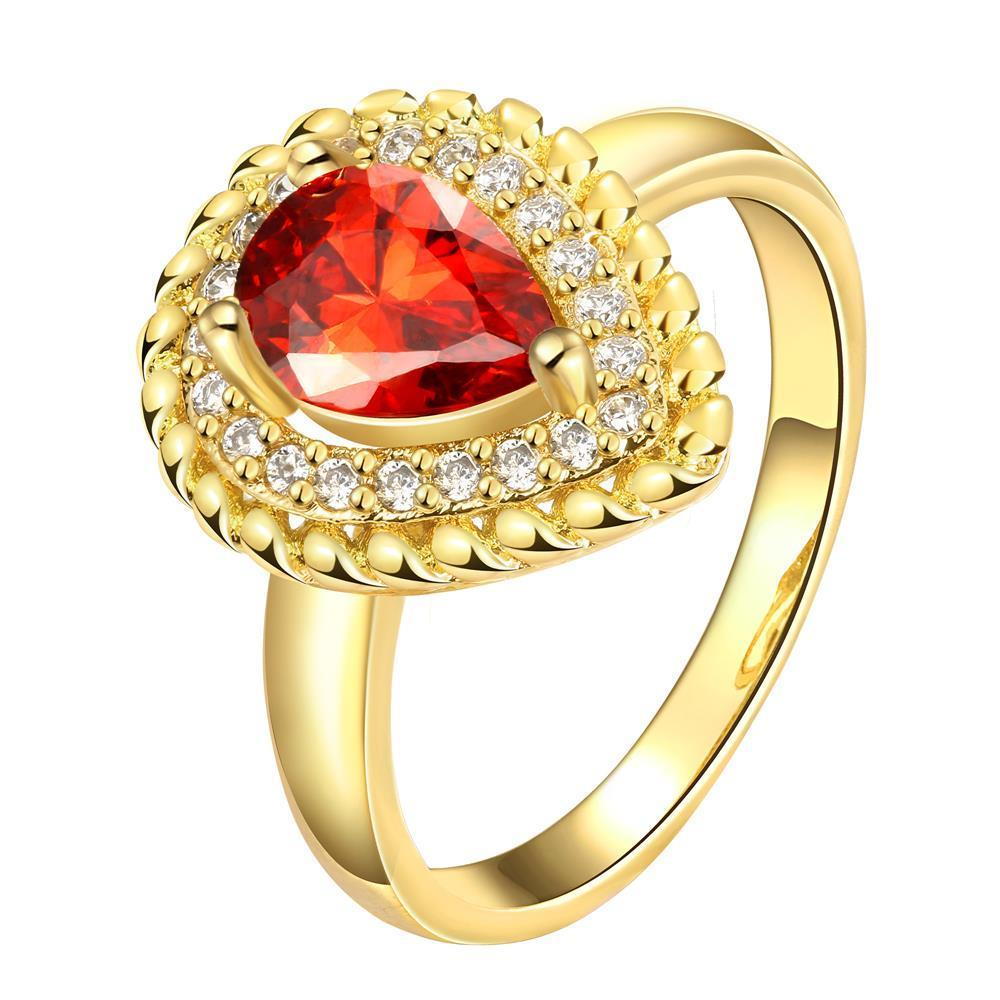 R143-A-8 High Quality Nickle Free Antiallergic New Fashion Jewelry 24K Plated zircon Ring