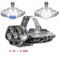 USB Cob High Power LED Head Light Lamp Zoom Headlight Headlamp 18650 Battery Cree Torch Rechargeable