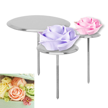 3pcs/Baking Piping Stands Tools DIY Needle Stick Ice Cream Cake Decorating Flower Nails Stainless Steel Nail