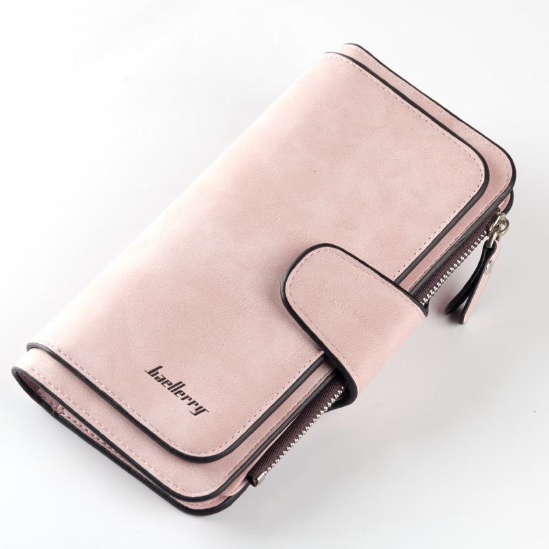 2019 New Wallet Women Big Capacity Three Fold Lady Purses High Quality Scrub Leather Female Wallets Carteira Feminina