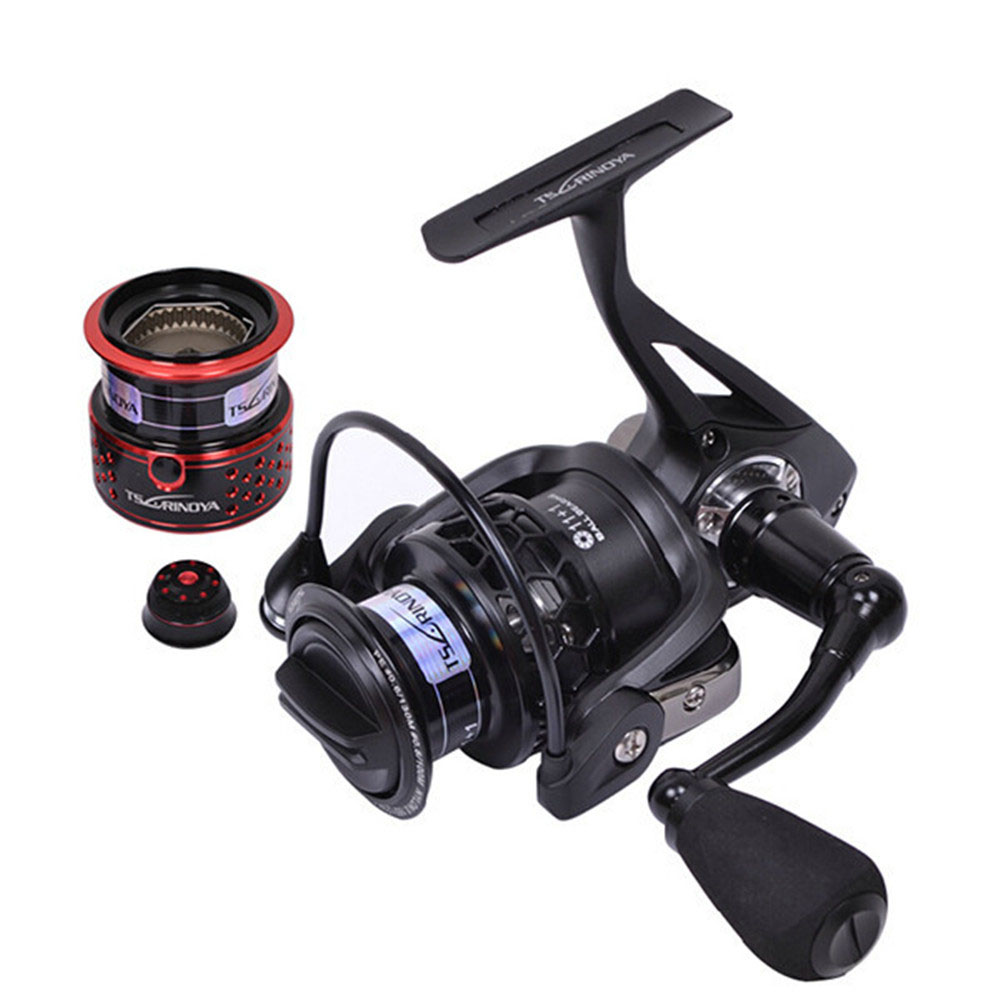 Top Full Metal Aluminum Alloy Fishing Reel 12BB 260g 2000SSpinning Fishing Reel Fish Wheel For Little Jig Lure With Spare Spool