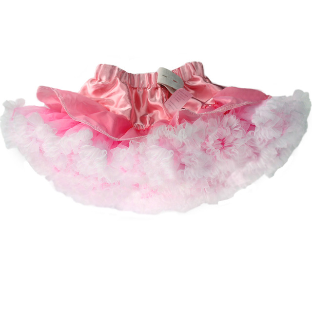 2016 Summer Baby Girls Tutu Skirt Girls Chiffon Princess Skirt Kids White Pink Ballet Dance Wear Skirts Child Clothes Falda