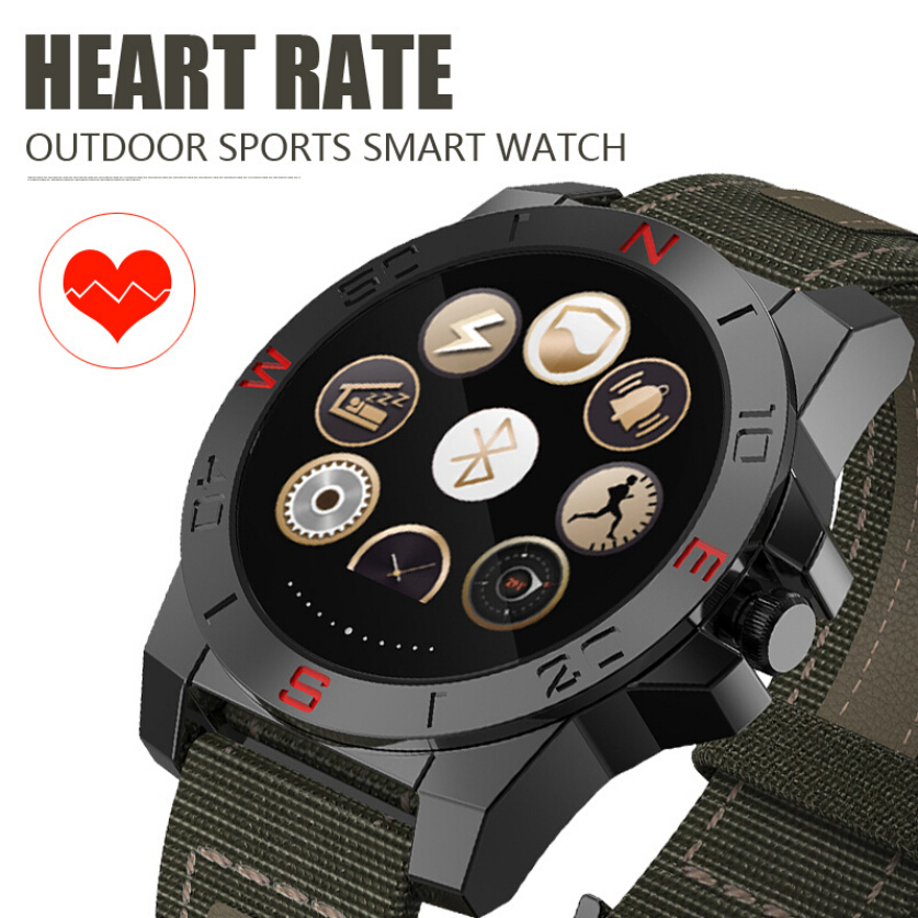 N10 font b Smart b font Watch Outdoor Sport Smartwatch With Heart Rate Monitor And Compass