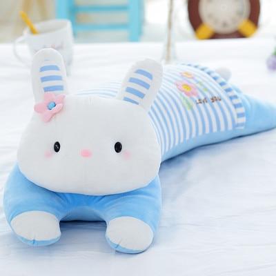 Nouveau jouet en peluche de poupée de lapin longue sujette créative de conception environ 70 cm oreiller doux de poupée de lapin, cadeau d'anniversaire x070