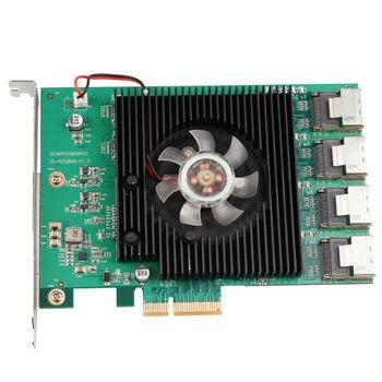 Marvell 88SE9215 Chipset 16 Ports SATA 6Gb PCI Express Controller Card PCI-e to SATA III 3.0 with mini sas to 4 sata cables