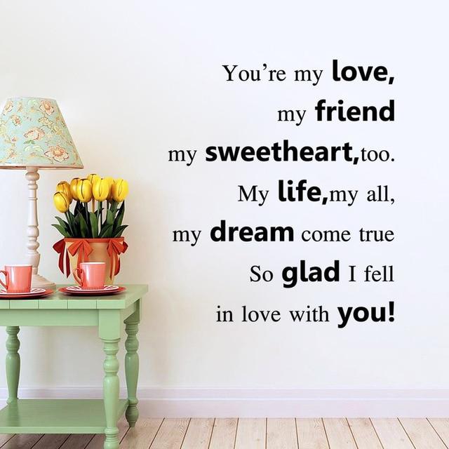 Valentines Day Gift For Girl Friendwife WallstickerPvc Love