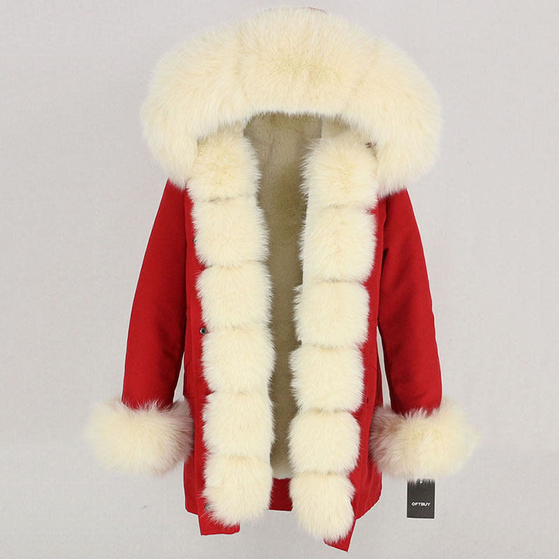 OFTBUY Waterproof Long Parka Winter Jacket Women Real Fur Coat Natural Fox Fur Collar Hood Thick Warm Streetwear Detachable New 87
