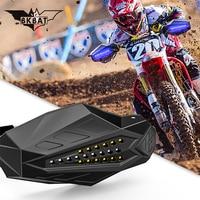 LED Motorcycle Handguards Motocross for honda varadero kawasaki zzr 400 ktm exc 250 suzuki vstrom 650 yamaha fz8 bmw ninet