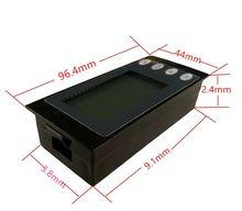 2020 nowy jednofazowy cyfrowy LCD watomierz AC 220V 100A 5w1 prąd napięcie zasilania czas energii Panel Kwh miernik z cewką CT tanie tanio peacefair CN (pochodzenie) Elektryczne Tylko cyfrowy 9 6*4 4*2 4cm -10-60degree PZEM-006